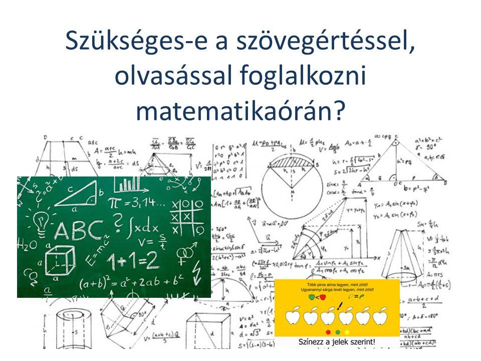 Szükséges-e a szövegértéssel, olvasással foglalkozni matematikaórán?