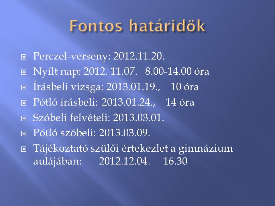  Perczel-verseny: 2012.11.20.  Nyílt nap: 2012.