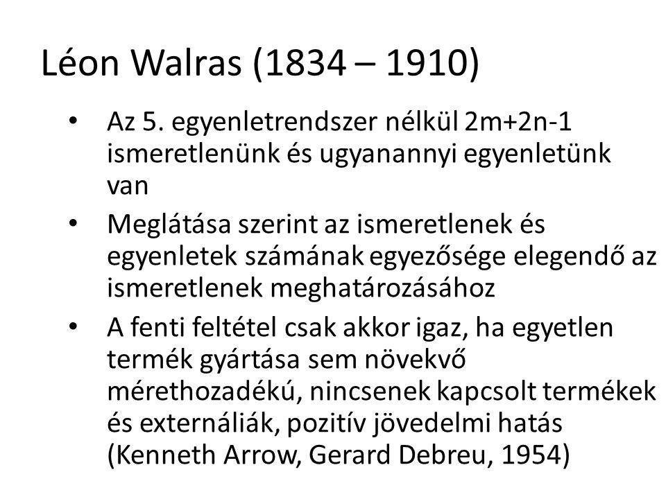 31 Léon Walras (1834 – 1910) Az 5.