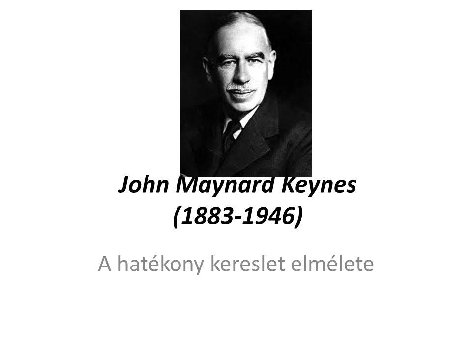 John Maynard Keynes (1883-1946) A hatékony kereslet elmélete