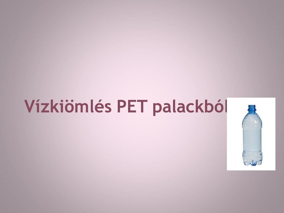 Vízkiömlés PET palackból