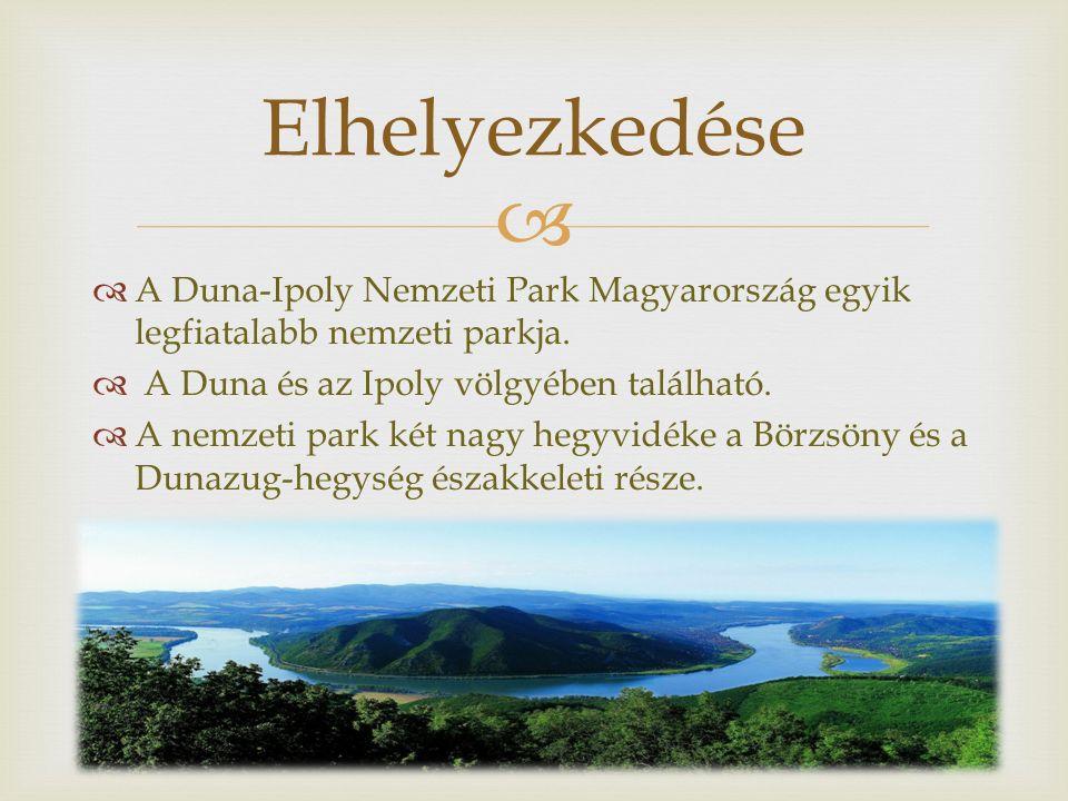   A Duna-Ipoly Nemzeti Park Magyarország egyik legfiatalabb nemzeti parkja.  A Duna és az Ipoly völgyében található.  A nemzeti park két nagy hegy