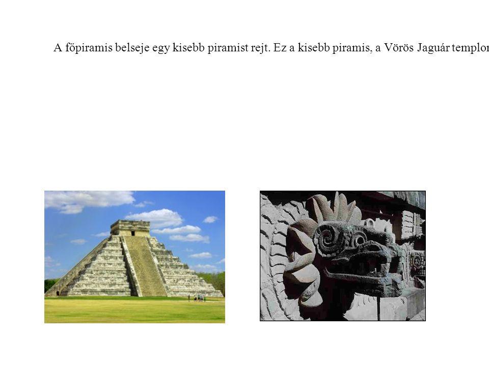 A főpiramis belseje egy kisebb piramist rejt. Ez a kisebb piramis, a Vörös Jaguár temploma.
