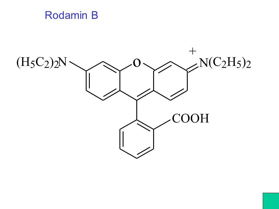 Rodamin B o N N (H 5 C 2 ) 2 (C 2 H 5 ) 2 + COOH
