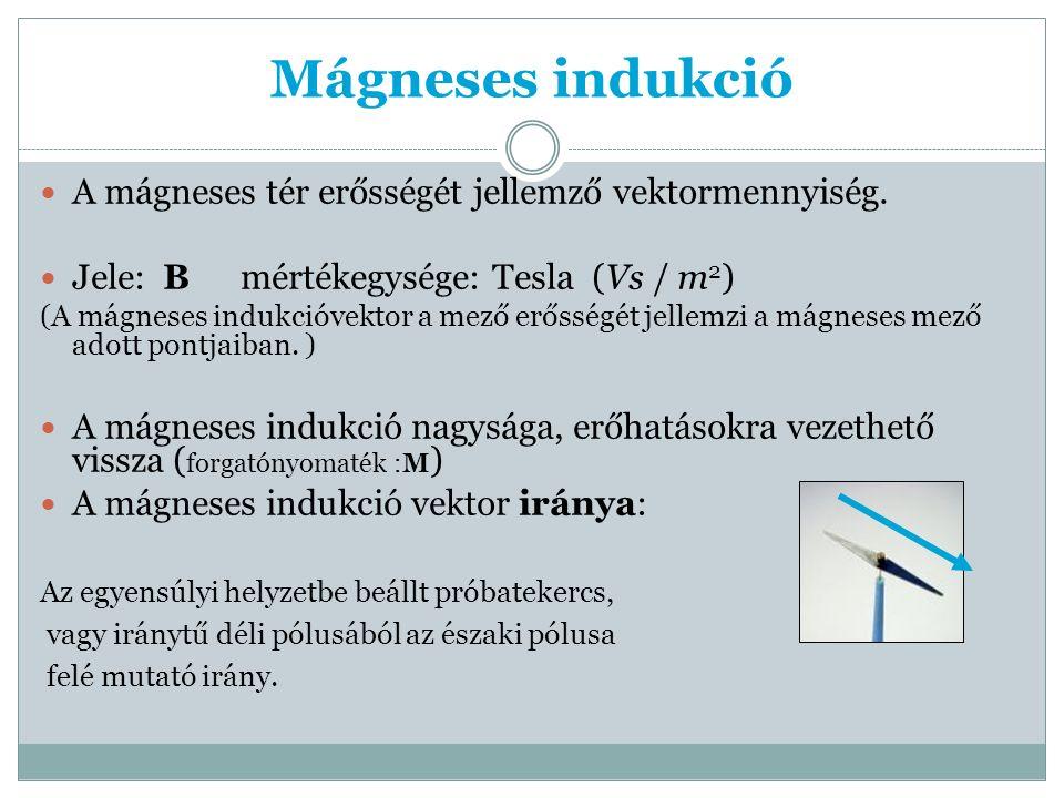 Effektív feszültség U i =B*l*v k *sinα, α=(ω*t) U max =B*l*v k U=U max *sin(ω*t) I=I max * sin(ω*t)