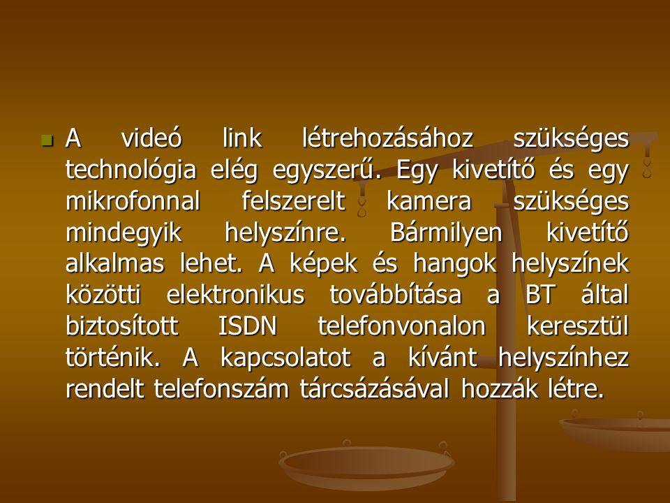 A videó link létrehozásához szükséges technológia elég egyszerű. Egy kivetítő és egy mikrofonnal felszerelt kamera szükséges mindegyik helyszínre. Bár