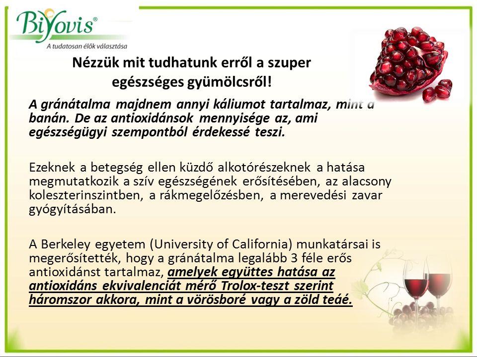 Nézzük mit tudhatunk erről a szuper egészséges gyümölcsről.