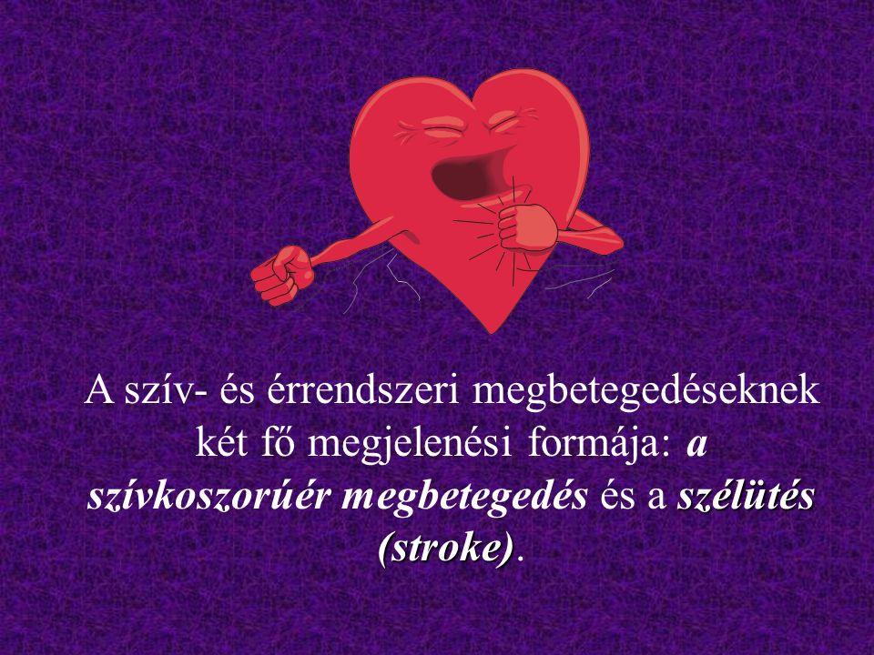 szélütés (stroke) A szív- és érrendszeri megbetegedéseknek két fő megjelenési formája: a szívkoszorúér megbetegedés és a szélütés (stroke).