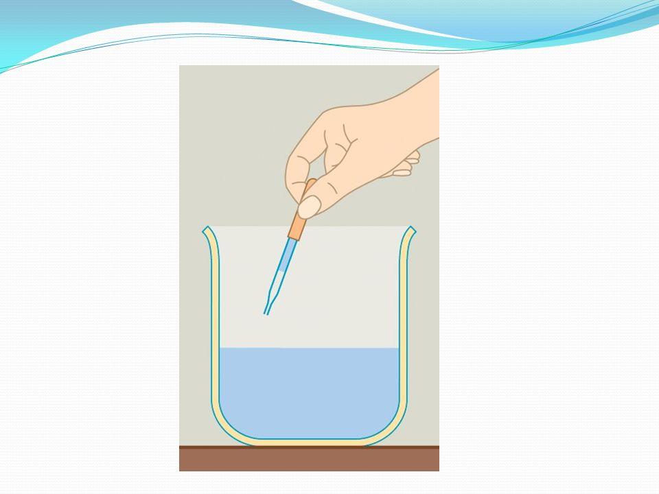 Tapasztalat Amikor a cseppentőt megnyomjuk, a benne lévő levegőt összenyomjuk, ami kitol egy csepp vizet.