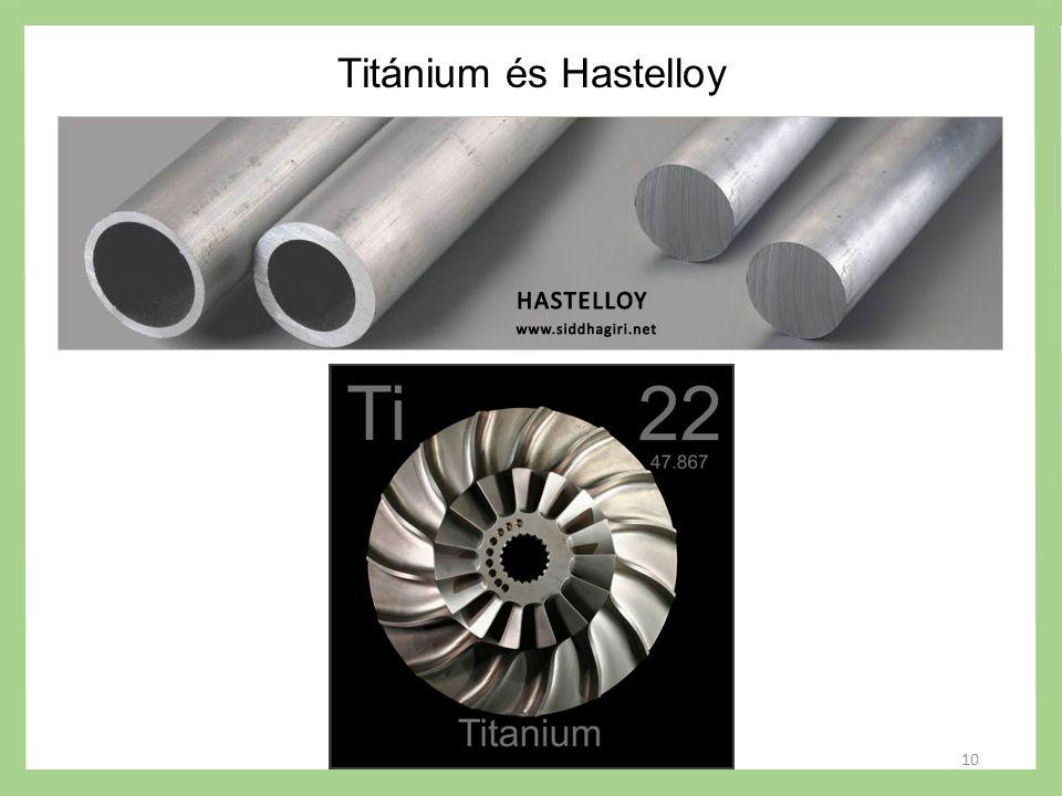 Titánium és Hastelloy 10