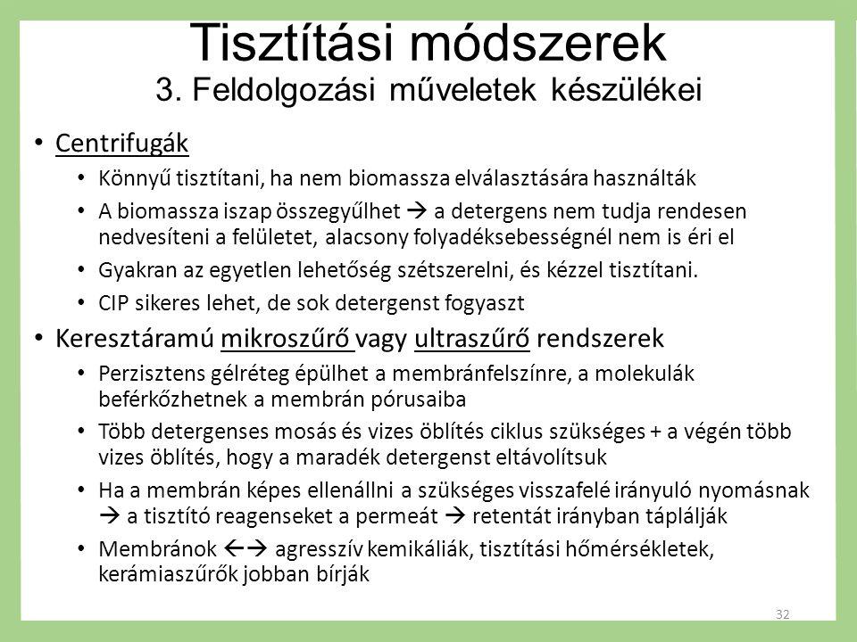 Tisztítási módszerek 3.