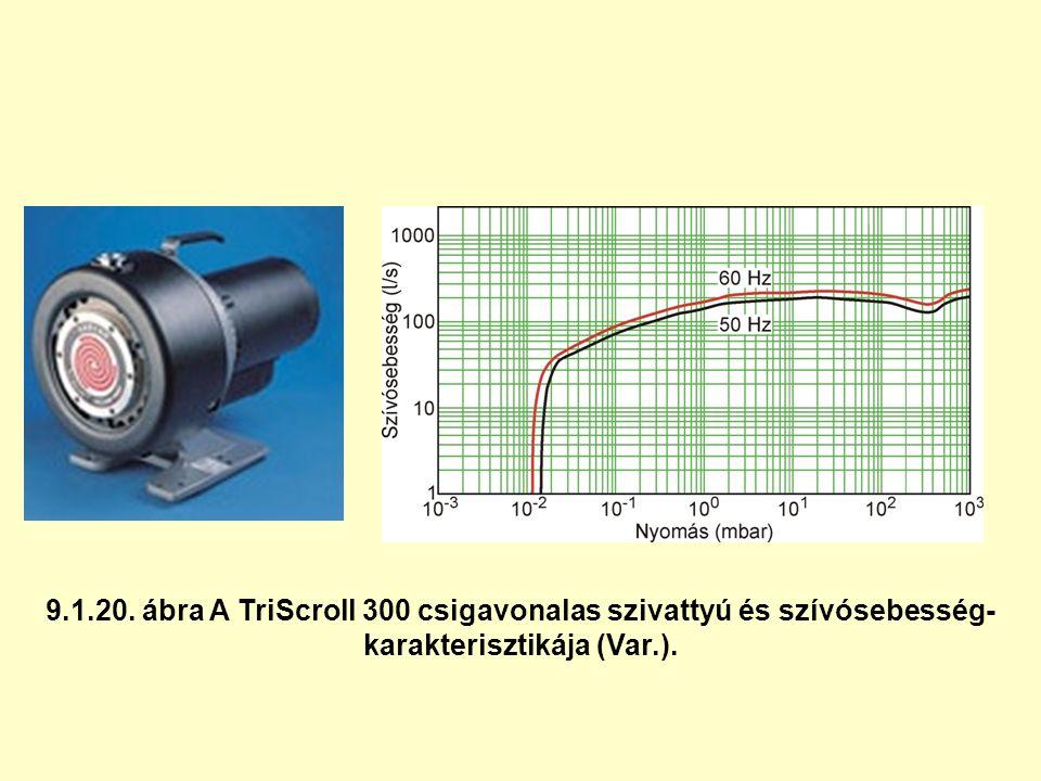 9.1.20. ábra A TriScroll 300 csigavonalas szivattyú és szívósebesség- karakterisztikája (Var.).