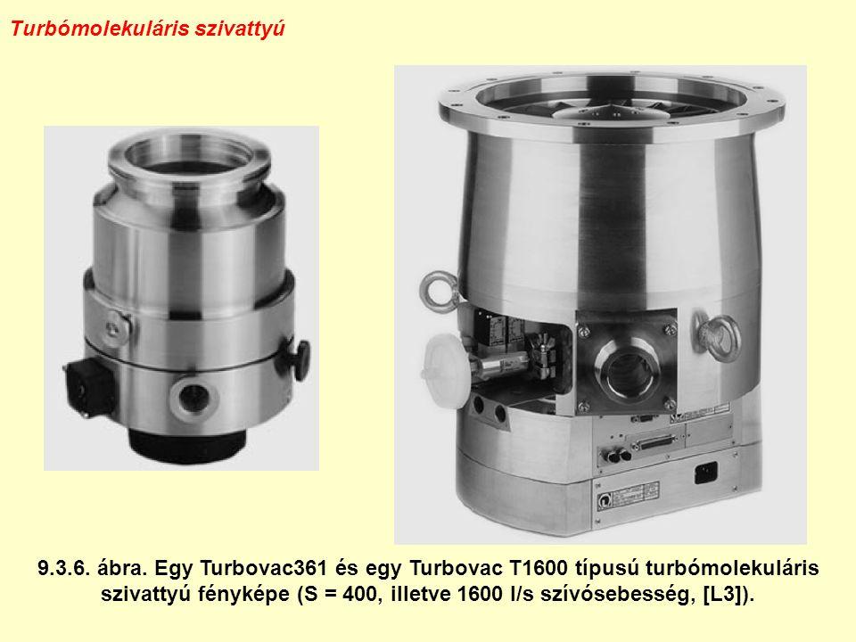 Turbómolekuláris szivattyú 9.3.6. ábra. Egy Turbovac361 és egy Turbovac T1600 típusú turbómolekuláris szivattyú fényképe (S = 400, illetve 1600 l/s sz