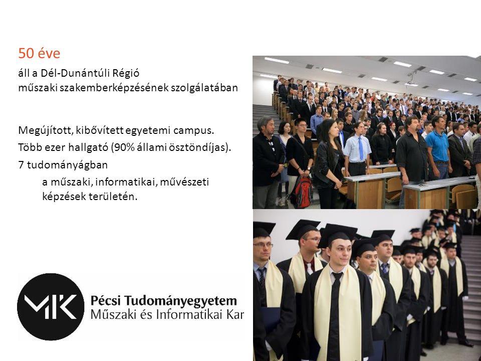 50 éve áll a Dél-Dunántúli Régió műszaki szakemberképzésének szolgálatában Megújított, kibővített egyetemi campus. Több ezer hallgató (90% állami öszt