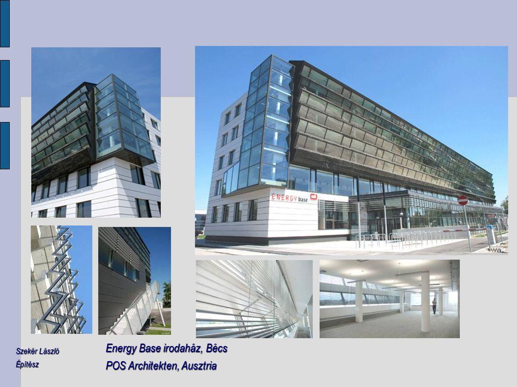 Energy Base irodaház, Bécs POS Architekten, Ausztria Szekér László Építész