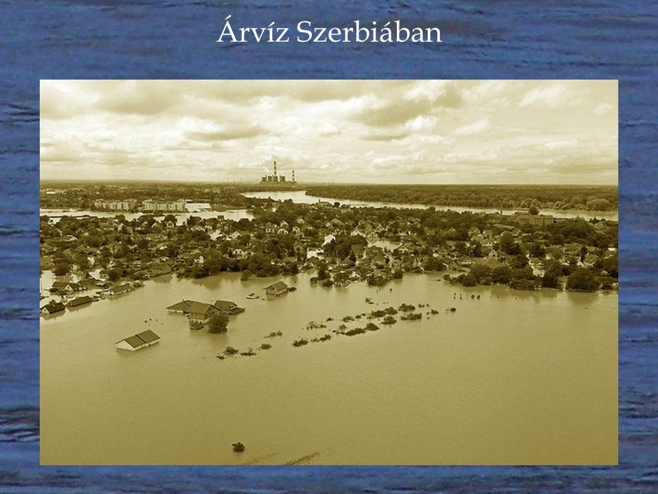 Árvíz Szerbiában