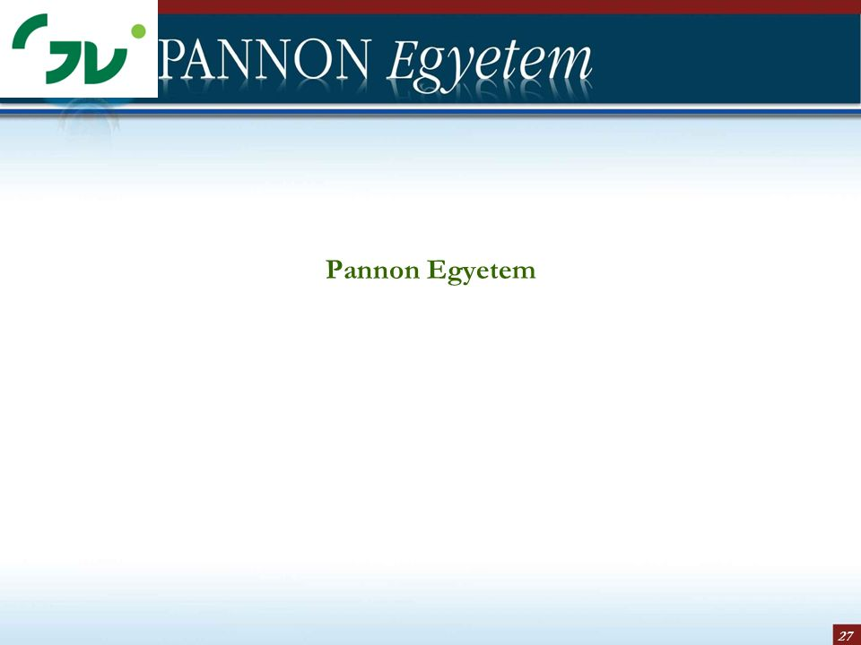 27 Pannon Egyetem