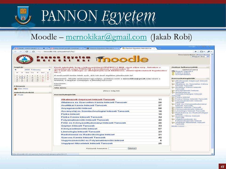 41 Moodle – mernokikar@gmail.com (Jakab Robi)mernokikar@gmail.com
