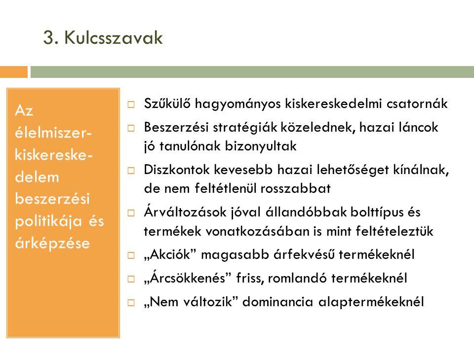 4.1.Minőségi jellemzők és elvárások az élelmiszerekkel kapcsolatban Forrás: Jahn et al.