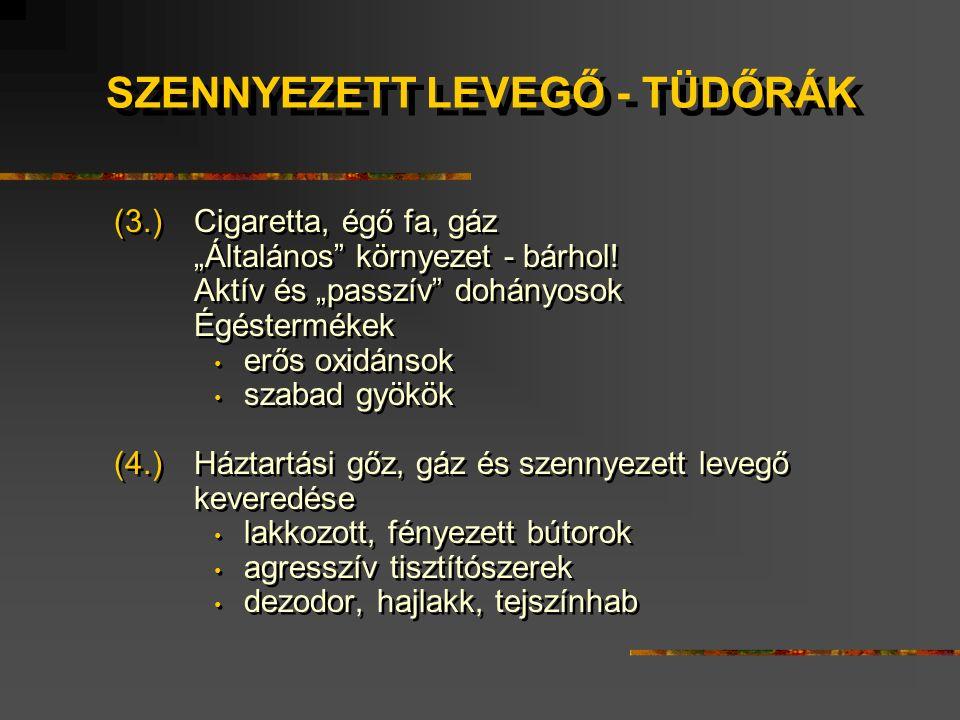 """(3.) Cigaretta, égő fa, gáz """"Általános környezet - bárhol."""