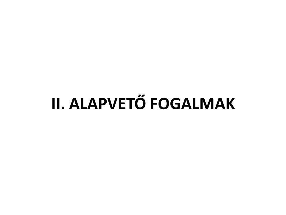 II. ALAPVETŐ FOGALMAK