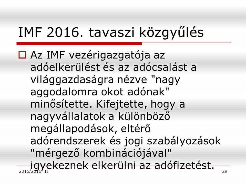 IMF 2016.