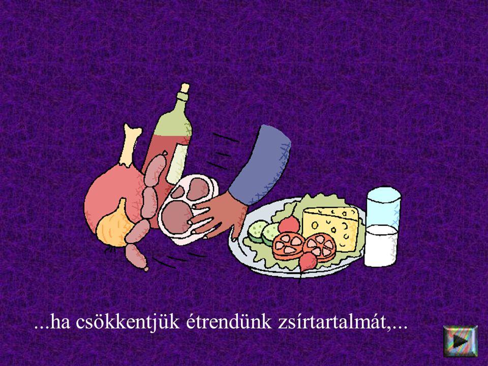 ...ha csökkentjük étrendünk zsírtartalmát,...