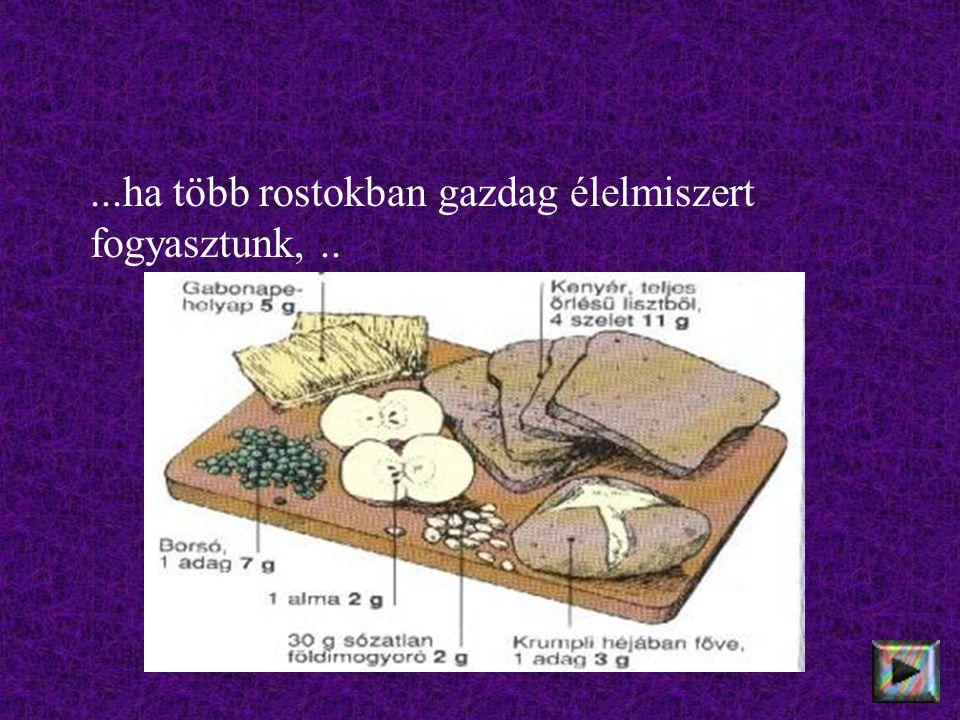 ...ha több rostokban gazdag élelmiszert fogyasztunk,..