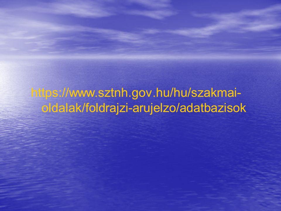 https://www.sztnh.gov.hu/hu/szakmai- oldalak/foldrajzi-arujelzo/adatbazisok