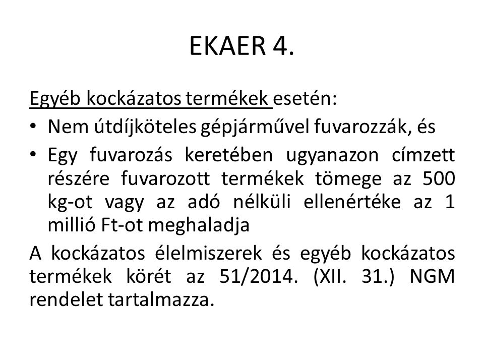 EKAER 4.