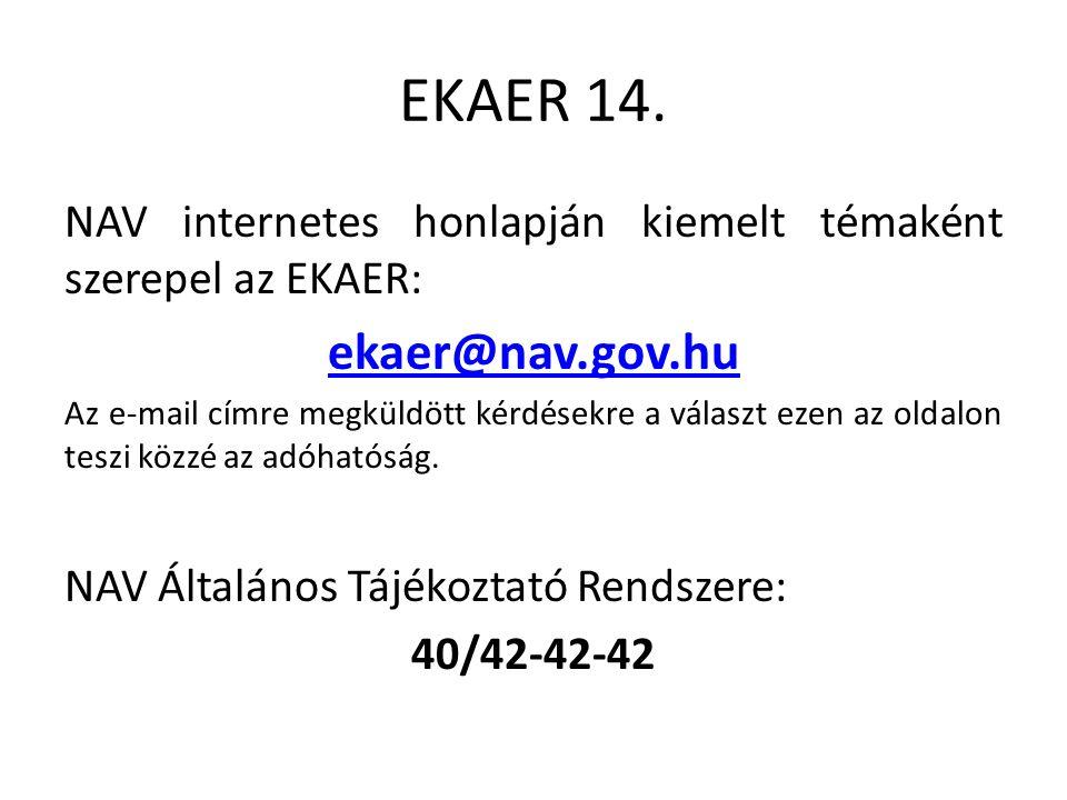 EKAER 14.