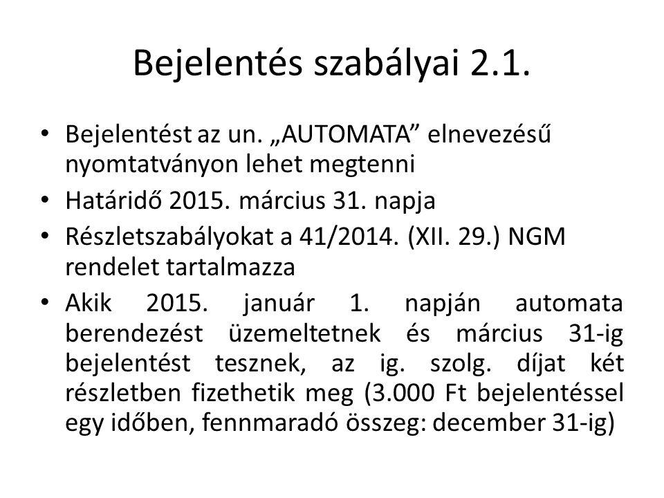 EKAER 11.Art. 11. sz. melléklet IV./1.