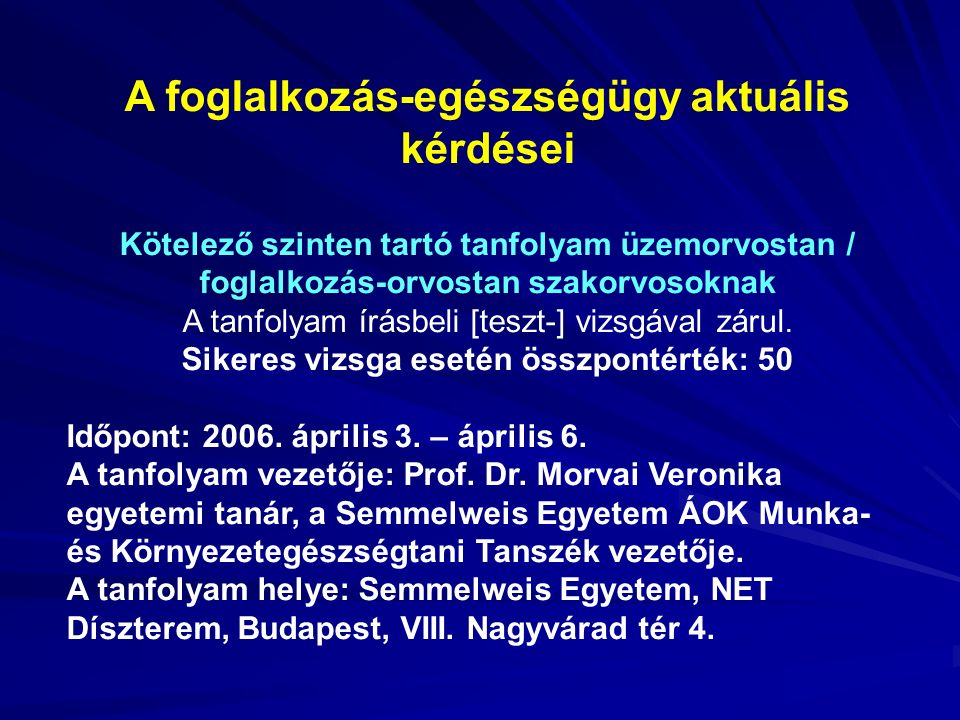 2006.április 3. (hétfő) 9.00-9.45Jelentkezés, regisztráció.