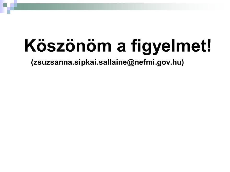 Köszönöm a figyelmet! (zsuzsanna.sipkai.sallaine@nefmi.gov.hu)