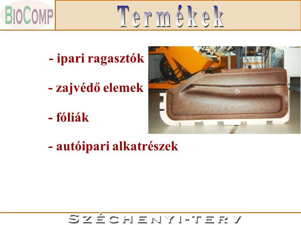 - ipari ragasztók - fóliák - zajvédő elemek - autóipari alkatrészek