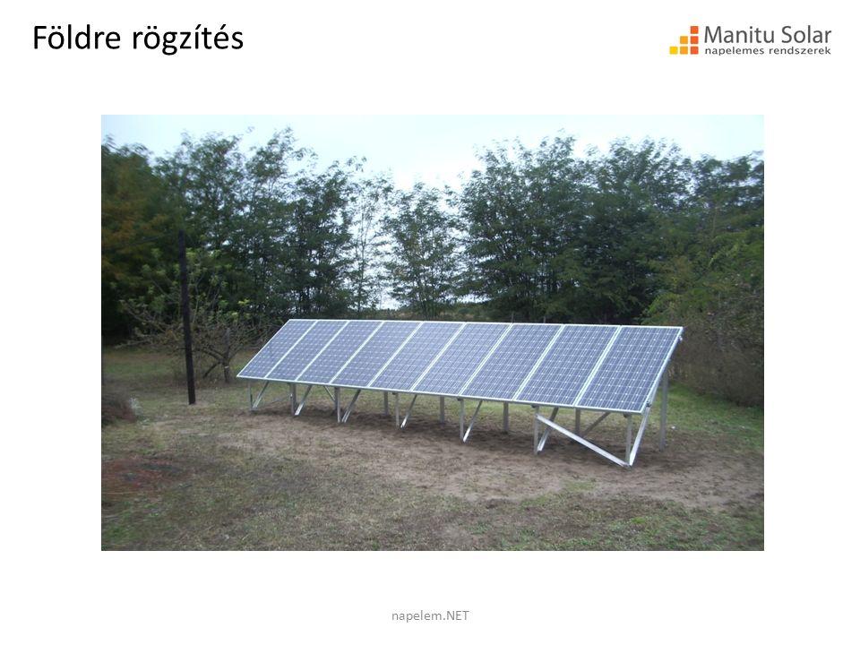 Földre rögzítés napelem.NET