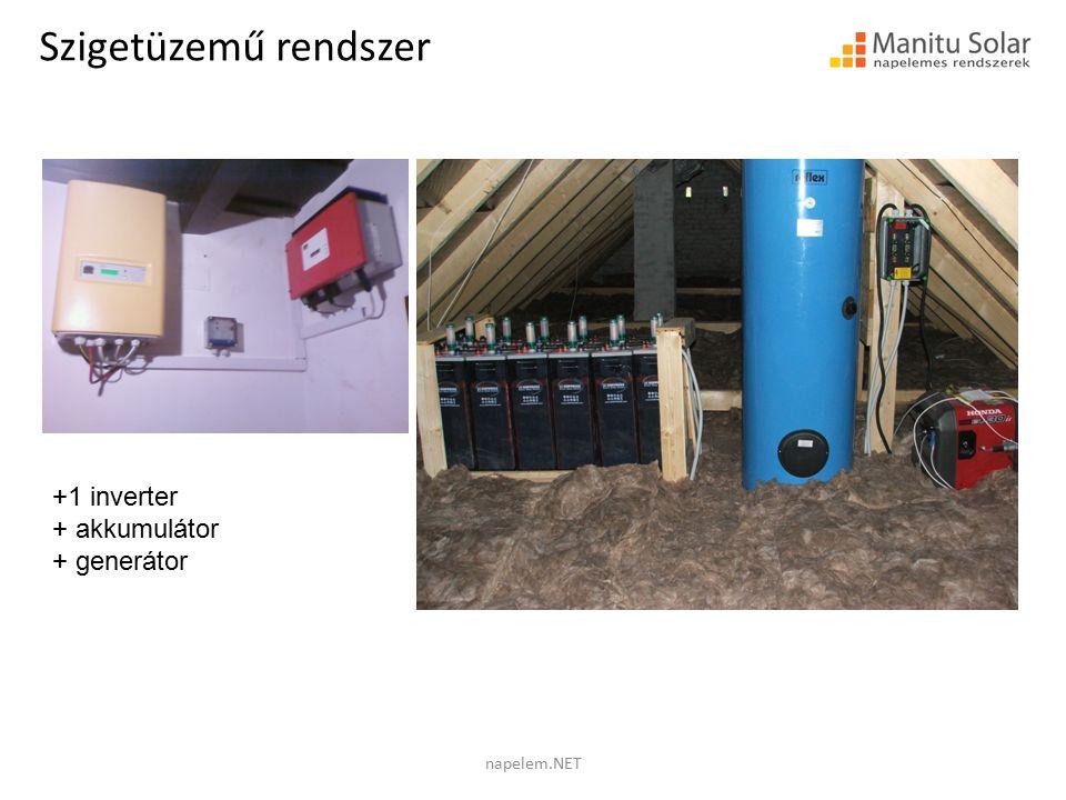Szigetüzemű rendszer +1 inverter + akkumulátor + generátor napelem.NET