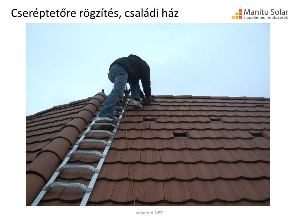 Cseréptetőre rögzítés, családi ház napelem.NET