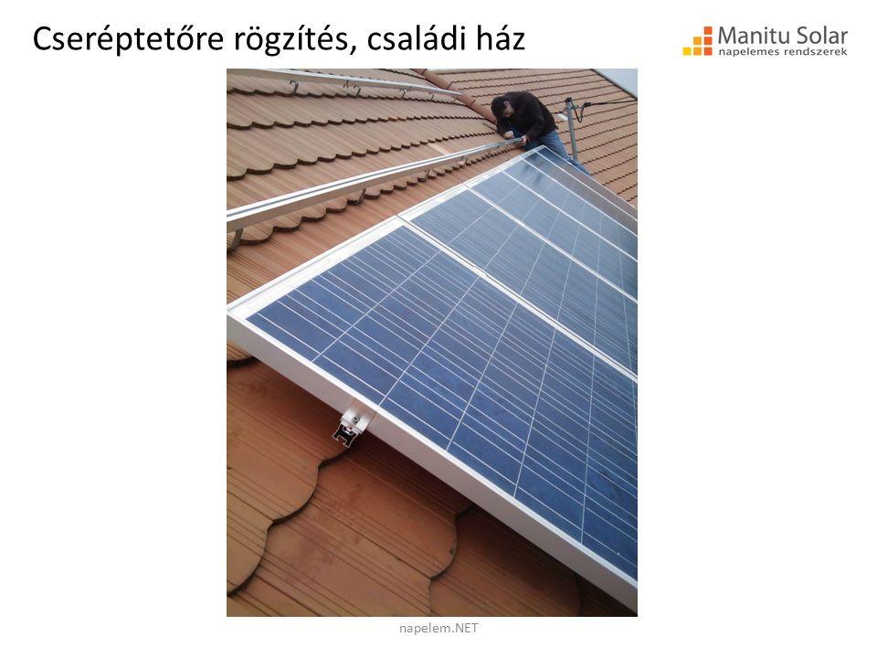 Palatetőre rögzítés napelem.NET