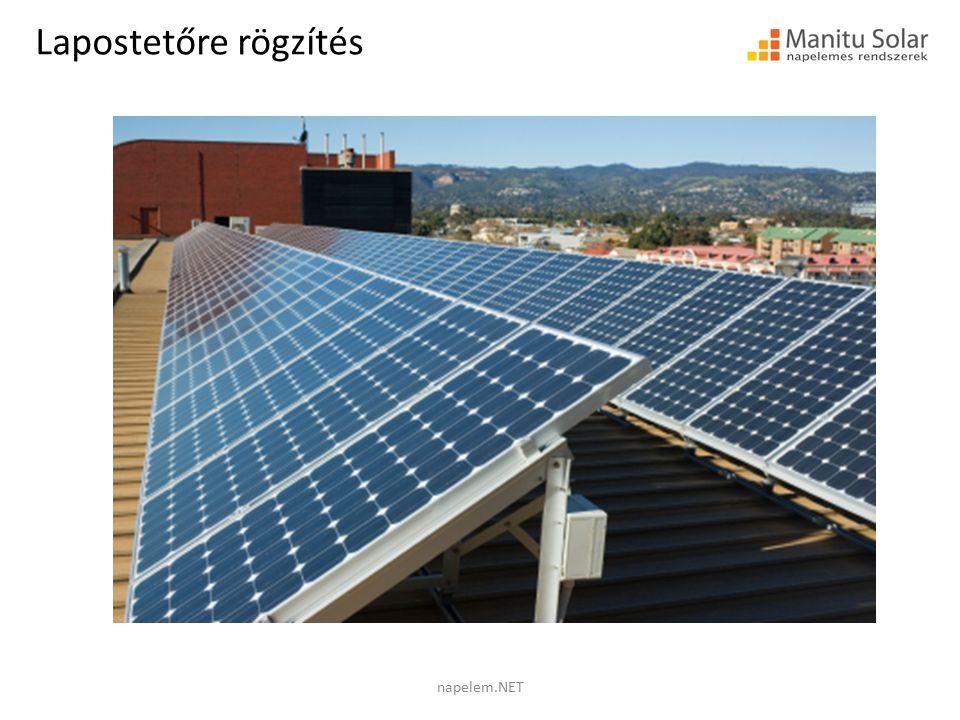 Lapostetőre rögzítés napelem.NET