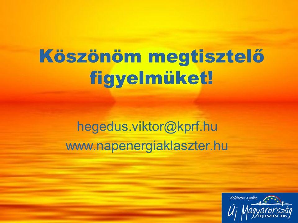 Köszönöm megtisztelő figyelmüket! hegedus.viktor@kprf.hu www.napenergiaklaszter.hu