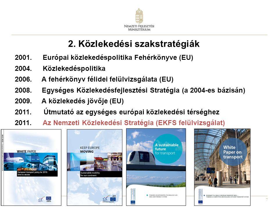 7 2001. Európai közlekedéspolitika Fehérkönyve (EU) 2004.