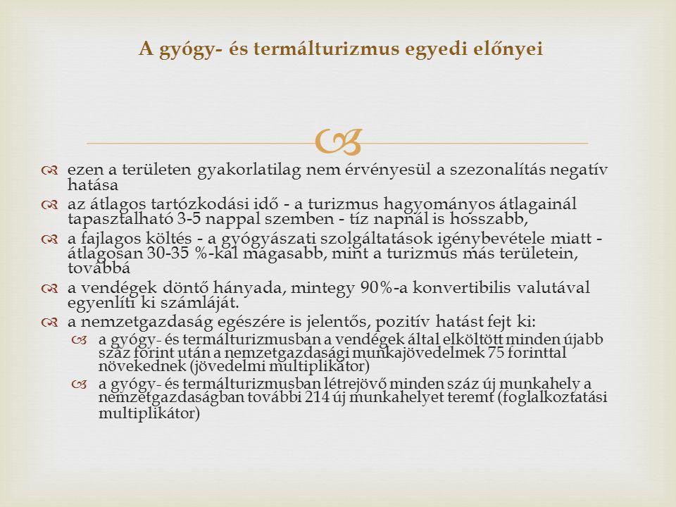   Széchenyi terv  A már meglévő gyógy- és termálfürdők felújítása, valamint a szolgáltatások komplex fejlesztése.