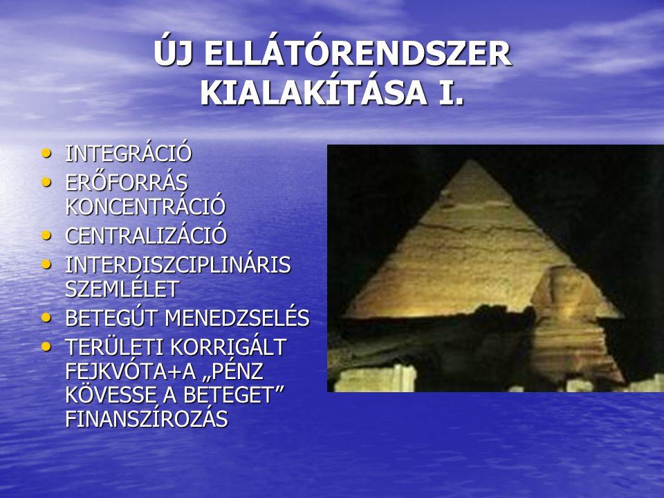 ÚJ ELLÁTÓRENDSZER KIALAKÍTÁSA I.