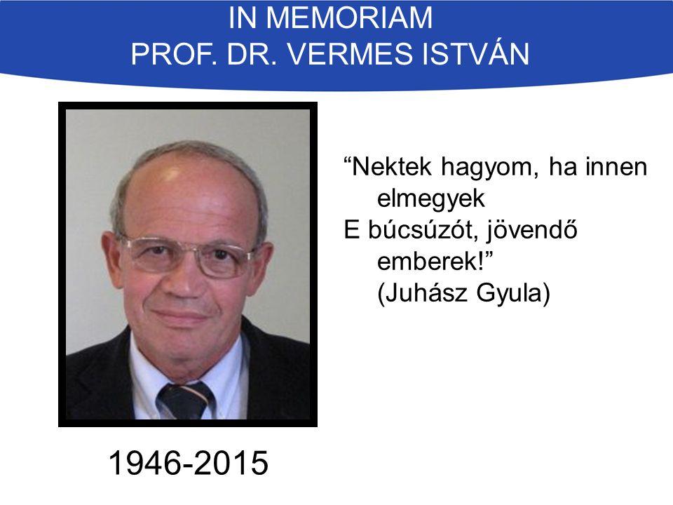 IN MEMORIAM PROF. DR.