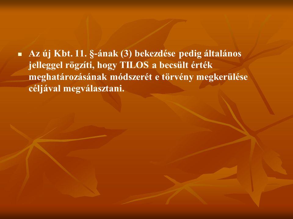 Az új Kbt. 11.