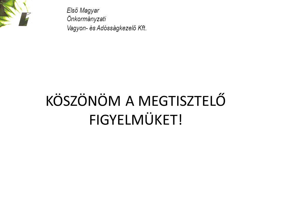 KÖSZÖNÖM A MEGTISZTELŐ FIGYELMÜKET! Első Magyar Önkormányzati Vagyon- és Adósságkezelő Kft.