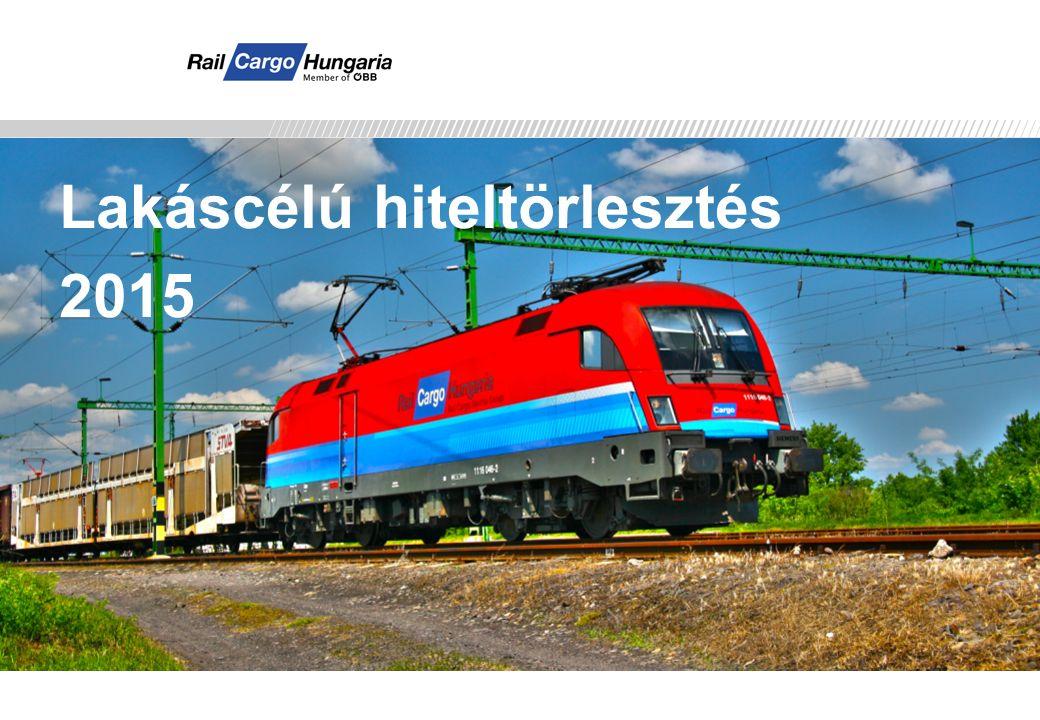 Rail Cargo Hungaria Lakáscélú hiteltörlesztés 2015