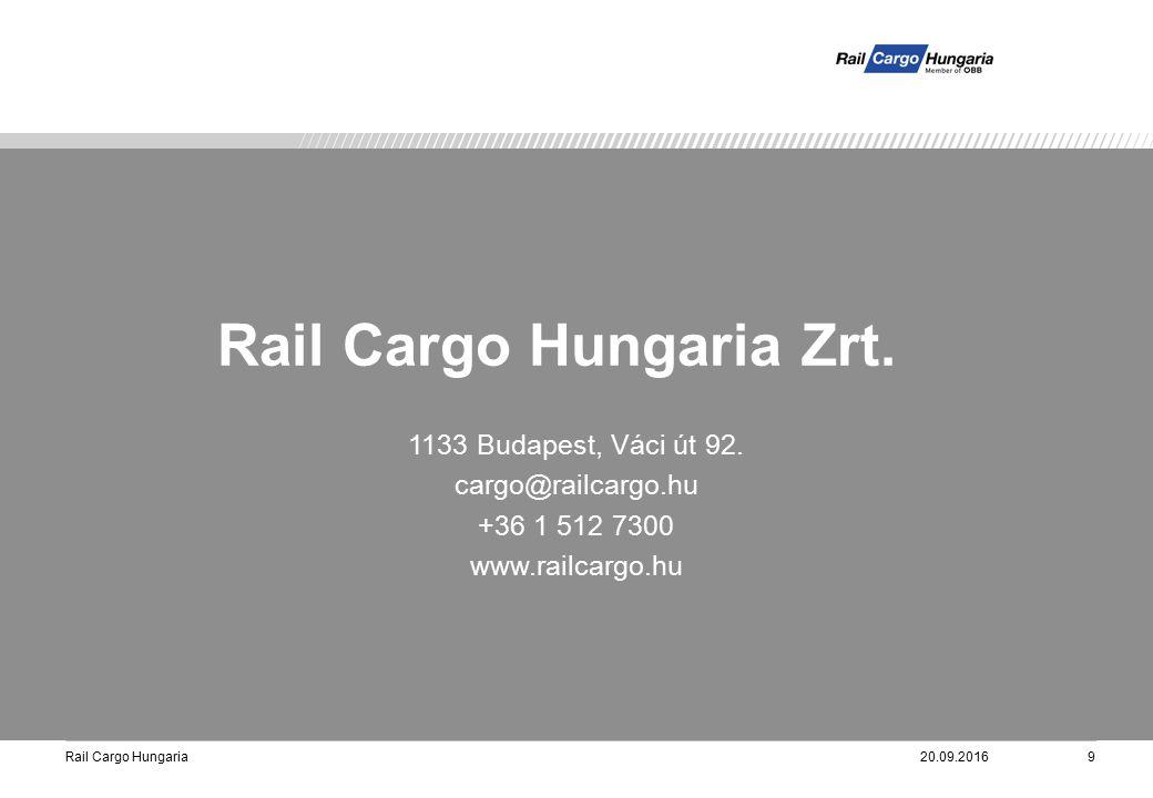 Rail Cargo Hungaria20.09.20169 1133 Budapest, Váci út 92.