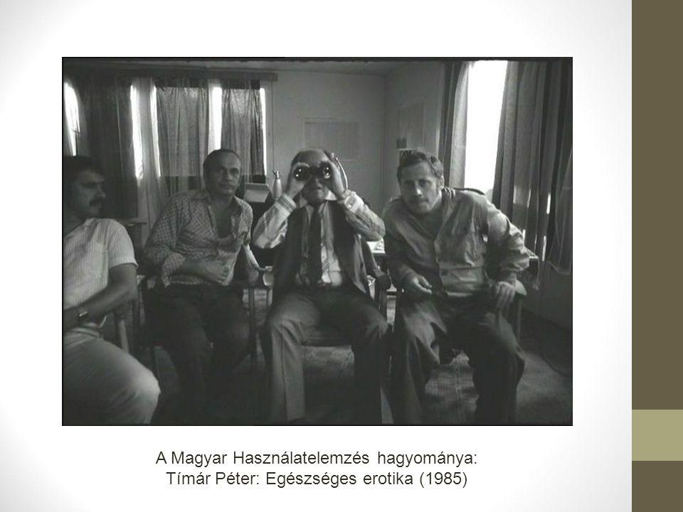 A Magyar Használatelemzés hagyománya: Tímár Péter: Egészséges erotika (1985)